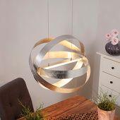 Zilveren LED-hanglamp Cara