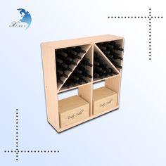 Factory directly sale high quality laser engraved solid wood wine bottle display holder