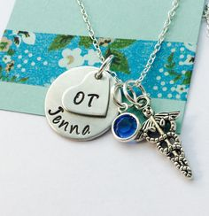 A personal favorite from my Etsy shop https://www.etsy.com/listing/470898613/occupational-therapist-necklace-ot