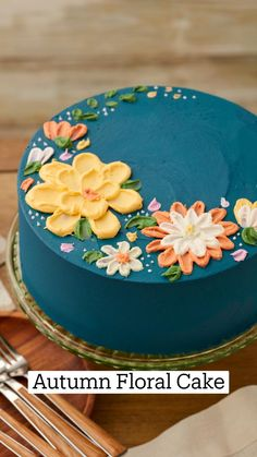 Pretty Cakes, Cute Cakes, Beautiful Cakes, Amazing Cakes, Bolo Floral, Floral Cake, Cake Decorating Piping, Cookie Decorating, Decoration Patisserie