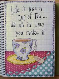 Cup of tea by mizbizibee, via Flickr