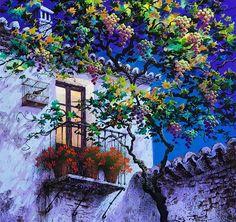 Cuadros de Luis Romero | Luis Romero Illustrations, Illustration Art, Pintura Exterior, Spanish Painters, Hyperrealism, Wildlife Art, Painting Techniques, Beautiful Landscapes, Painting Inspiration