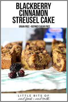 This Blackberry Cinnamon Streusel Cake is grain free, refined sugar free and and great for breakfast or dessert! Tart Recipes, Real Food Recipes, Cooking Recipes, Primal Recipes, Healthy Recipes, Healthy Treats, Healthy Food, Cinnamon Streusel Cake, Streusel Topping