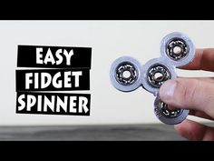 DIY EASY Hand Spinner Fidget Toy | 5 SPINNERS GIVEAWAY