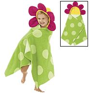 Flower Hooded Towel for the little one! SO CUTE! They'll love it!