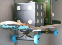 DIY skateboard bookshelf - for teen or kids room