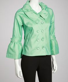Take a look at this Pistachio Jacket by Samuel Dong on #zulily today!