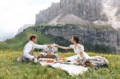 Darlings in the Dolomites: A Rustic Bohemian Wedding from the Mountains + Lakes of Italy - Green Wedding Shoes Our Wedding Day, Dream Wedding, Wedding Shoes, Forest Wedding, Woodland Wedding, Wedding Dresses, Wedding Ideas, Foxes Photography, Wedding Photography