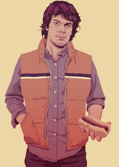 Theon Game of Thrones characters re-imagined in 80s/90s style Illustrations by Mike Wrobel