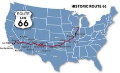 Route 66 was the route we traveled while it was still at its prime.