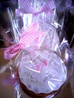 New born baby girl cookies
