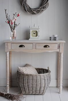 Hall console table from The White Cottage