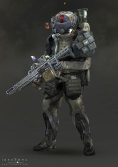 These characters are designed for a fps game demo.In the game,a conflict between the two imaginary countries--URC(United Republic of China)and AME(Commonwealth of America),because of an island dispute.Players can handover control between character and humanoid robot in this demo.