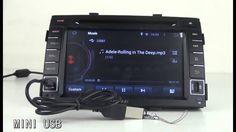 Kia Sorento 2010-2012 Android 4.4 Car DVD GPS 2 Din 7 Inch  - Pumpkin