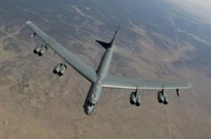 A B-52 Stratofortress, from the 2nd Bomb Wing, Barksdale Air Force Base, La., receives fuel from a Boeing KC-135 Stratotanker, from the 151st Air Fueling Wing, Utah Air National Guard, March 26, 2012. The 151st Air Refueling Wing routinely supports air operations across the western United States.  Photo by Tech. Sgt. Dennis Henry  http://www.dvidshub.net/image/552963/utah-air-national-guard-refueling-b-52-stratofortress-2nd-bomb-wing-barksdale-afb-la#ixzz1rHi98DOs