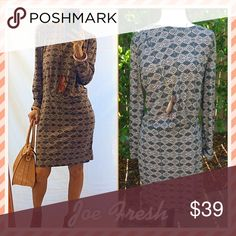 "🌰Joe🌰 New with tags classy and chic fall lovely!. With rocking brown booties the ""in style"" boot and your fall rocking!. I love this dress...very me!. Joe Fresh Dresses Midi"