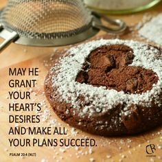 May he grant your heart's desires and make all your plans succeed. - Psalm 20:4 #NLT #Bible