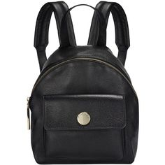 Whistles Mini Madison Sporty Backpack, Black ($285) ❤ liked on Polyvore featuring bags, backpacks, black leather backpack, black backpack, miniature backpack, black mini backpack and black bag