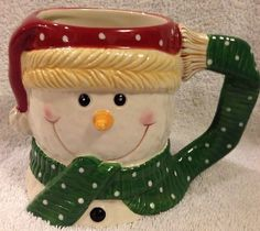 Yankee Candle Snowman Mug Large Ceramic Christmas Coffee Mug | eBay