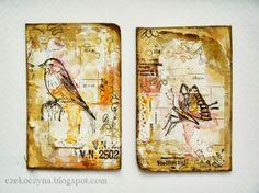 Czekoczyna - Kasia Krzyminska: Spirit of Nature - Blog Hop   ATC's made from book covers