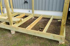 How to build a storage shed: step 1 building the storage, Foundations the most common storage shed foundation are the wooden skid and the concrete slab. Description from halisa.net. I searched for this on bing.com/images