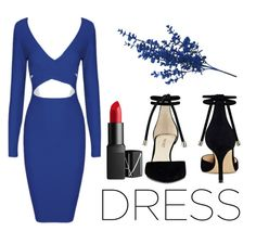"""""""Dress"""" by colorfulrainbow03 on Polyvore featuring moda, Nine West i NARS Cosmetics"""