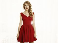 Image Taylor Swift red dress HD Wallpapers