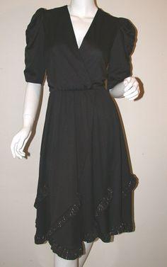 Swingy 80's dress - love those ruffles!
