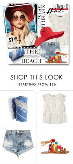 """""""#Summer Hat - Global Babe"""" by nikkisg ❤ liked on Polyvore featuring Chanel, H&M, Violeta by Mango, One Teaspoon, summerhat and Globalbabe"""