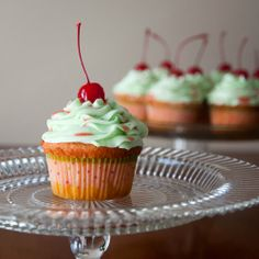 Cherry Limeade Cupcakes . . . A delicious flavor that is perfect for summer!