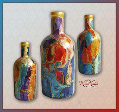 Бутылка Красочная