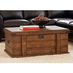 Trunk Coffee Table Leather Love House Pinterest Tables And