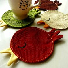 Birds Of The Same Feather Coasters - from little odd forest