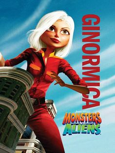 High resolution official theatrical movie poster ( of for Monsters vs. Aliens Image dimensions: 900 x Starring Seth Rogen, Reese Witherspoon, Hugh Laurie, Paul Rudd Dreamworks Studios, Dreamworks Movies, Dreamworks Animation, Animation Film, Alien Movie Poster, Animated Movie Posters, Aliens Movie, Ice Age Movies, Good Movies