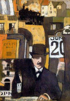 JOAQUIN TORRES-GARCIA (1874-1949)  Figure with Landscape of City