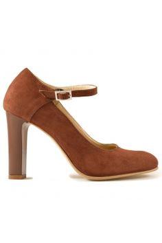 Pantofi Mopiel din piele intoarsa, cu bareta Heeled Mules, Mall, Shoes, Fashion, Moda, Zapatos, Shoes Outlet, Fashion Styles, Shoe