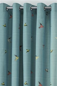 Hummingbird Print Eyelet Curtains from the Next UK online shop £55