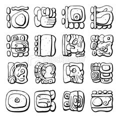 Google, Search and Mayan symbols on Pinterest