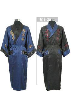 Fu Lu Shou Twin Dragons Men Robe. Men s RobesBest PajamasJapanese ... 57894f4f0