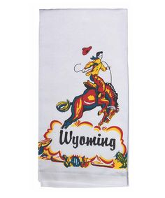 Loving this 'Wyoming' Cowboy Kitchen Towel - Set of Two on #zulily! #zulilyfinds