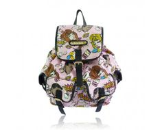 Anna Smith Pale Pink Pop Art Print Rucksack Bag.