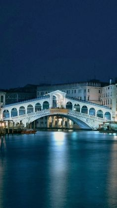 Ponte di Rialto Bridge at Night - Venice, Italy Places Around The World, Oh The Places You'll Go, Places To Travel, Places To Visit, Around The Worlds, Wonderful Places, Beautiful Places, Italy Architecture, Italy Travel