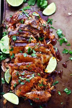 Slow Cooker Honey Lime Ginger Pork Recipe - Delicious and tender pork cooked in a slow cooker with honey, lime, soy, garlic and ginger-infused marinade. Crock Pot Slow Cooker, Slow Cooker Recipes, Cooking Recipes, Healthy Recipes, Meat Recipes, Pork Loin Slow Cooker, Slow Cooked Pork, Pork Roast Recipes, Simple Pork Recipes
