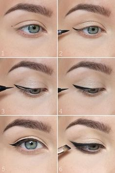 How to perfect winged eyeliner. How to perfect winged eyeliner. the easiest way to do winged eyeliner How to perfect winged eyeliner. How to choose and apply eyeliner Eyeliner Trends, Winged Eyeliner Tricks, Perfect Winged Eyeliner, Winged Eyeliner Tutorial, Eyeliner For Beginners, Eyeliner Hacks, Makeup Tutorial For Beginners, How To Apply Eyeliner, No Eyeliner Makeup