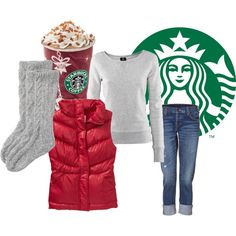 Comfy clothes and a starbucks! Ready for winter.
