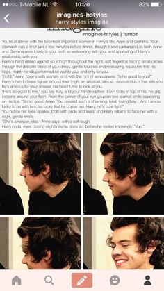 Image about love in imagines by Gennevi on We Heart It One Direction Interviews, One Direction Images, One Direction Facts, One Direction Harry Styles, Cute Imagines, Harry Imagines, 5sos Imagines, Teenage Books To Read, Harry Styles Images