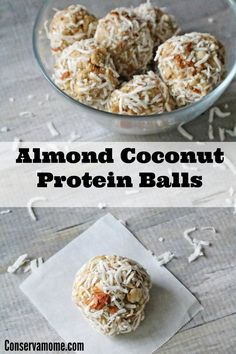 Protein balls are a fantastic on the go snack for all ages. Check out how easy it is to make these delicious Almond Coconut Protein Balls recipe.
