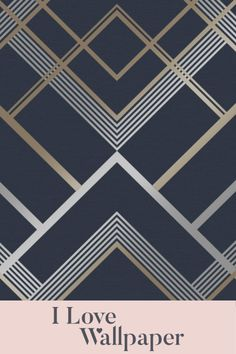 Transform your interiors with our Otis Geometric Wallpaper in Navy here at I Love Wallpaper. With its bold geometric pattern and rich blue and gold tones, this modern wallpaper exudes style while helping to create a warm and welcoming atmosphere. The design is made up of a solid navy blue background colour and is finished with a retro-inspired white and gold lattice pattern.