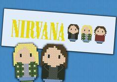 Nirvana rock band - PDF cross stich pattern