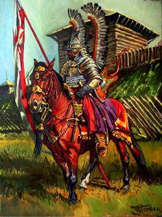 Polish Winged Hussar- by Yaroslav Stroyny